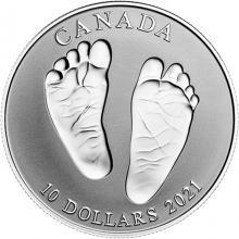 Stříbrná mince Vítej na světě 2021 Proof (.9999)