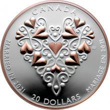 Stříbrná mince Svatba 2021 Proof