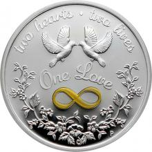 Stříbrná mince One Love 1 Oz 2021 Proof