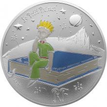 Stříbrná kolorovaná mince Malý princ: Kniha 2021 Proof