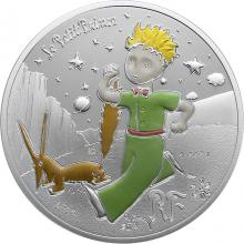 Stříbrná kolorovaná mince Malý princ: Liška 2021 Proof