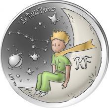 Stříbrná kolorovaná mince Malý princ: Měsíc 2021 Proof