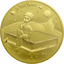 Zlatá mince Malý princ: Kniha 1/4 Oz 2021 Proof