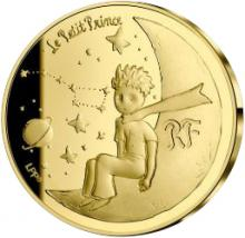Zlatá mince Malý princ: Měsíc 1/4 Oz 2021 Proof
