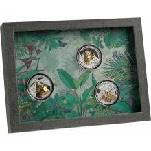 Sada stříbrných mincí Golden Insetcs Collection - 3D hmyz 2021 Proof