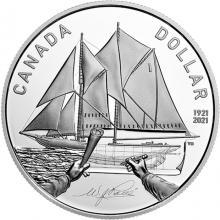 Stříbrná mince Bluenose - 100. výročí 2021 Proof