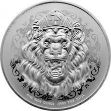 Stříbrná investiční mince Truth - Roaring Lion of Judah 1 Oz 2021