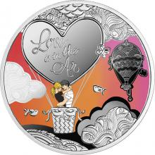 Stříbrná kolorovaná mince Love is in the Air 2021 Proof