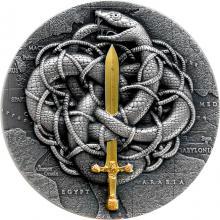 Stříbrná mince Gordický uzel 2 Oz 2021 Antique Standard