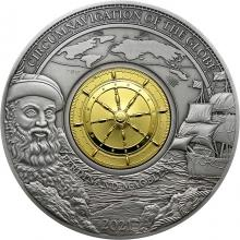 Stříbrná mince 3 Oz Obeplutí světa - Fernão de Magalhães 2021 Antique Standard