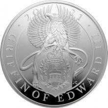 Strieborná minca 5 Oz Griffin Edwarda III 2021 Proof
