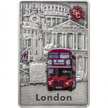 Stříbrná mince Splash of Colour - London 2 Oz 2021 Antique Standard