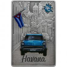 Stříbrná mince Splash of Colour - Havana 2 Oz 2021 Antique Standard