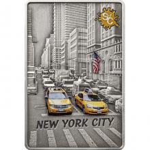 Stříbrná mince Splash of Colour - New York City 2 Oz 2021 Antique Standard