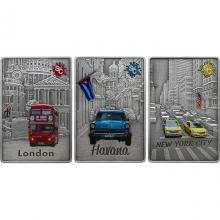 Edičný set strieborných mincí Splash of Colour 2021 Antique Standard