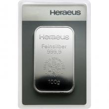100g Argor Heraeus / Heraeus Investiční stříbrný slitek