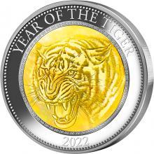 Stříbrná mince 5 Oz Year of the Tiger - Rok Tygra 2022 Perleť Proof