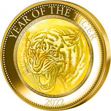 Zlatá mince 5 Oz Year of the Tiger - Rok Tygra 2022 Perleť Proof