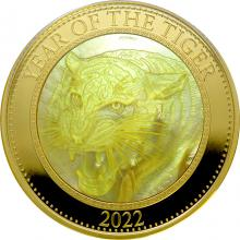 Zlatá minca 5 Oz Year of the Tiger - Rok Tigra 2022 Perleť Proof