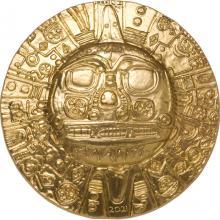 Strieborná pozlátená mince Boh Slnka Inkov 1 Oz 2021