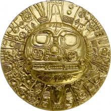Strieborná pozlátená minca Boh Slnka Inkov 1 Oz 2021
