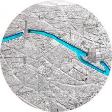 Stříbrná mince Tiffany Art Metropolis - Paříž 3 Oz 2021 Proof