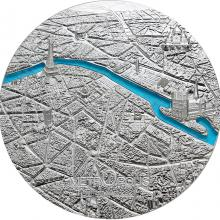 Strieborná minca Tiffany Art Metropolis - Paríž 3 Oz 2021 Proof
