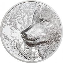 Strieborná minca Mystický vlk 1 Oz 2021 Proof