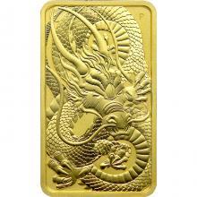 Zlatá investiční mince Rectangular Dragon 1 Oz 2021