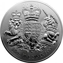 Strieborná investičná minca Royal Arms 10 Oz 2021