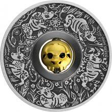 Stříbrná mince 1 Oz lunární Buvol 2021 Antique Standard