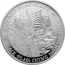 Stříbrná investiční mince Black Flag - The Red Flag Fleet 1 Oz 2021