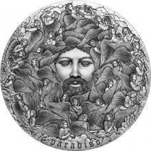 Stříbrná minca 5 Oz Paradiso - Dante Alighieri - Božská komédia 2021 Antique Štandard