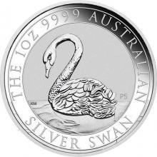 Stříbrná investiční mince Australian Swan 1 Oz 2021