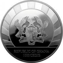 Stříbrná investiční mince 1 Kg Obři doby ledové - Nosorožec srstnatý 2021