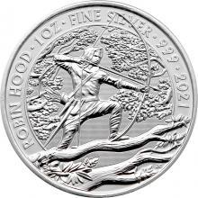 Stříbrná investiční mince Mýty a legendy - Robin Hood 1 Oz 2021