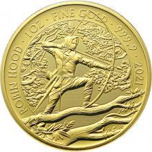 Zlatá investičná minca Mýty a legendy - Robin Hood 1 Oz 2021