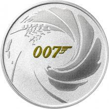 Strieborná investičná minca James Bond 007 1 Oz 2021