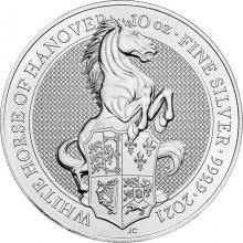 Strieborná investičná minca The Queen´s Beasts The White Horse 10 Oz 2021