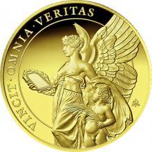Zlatá mince Ctnosti královny - Pravda 1 Oz 2021 Proof