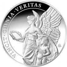 Stříbrná mince Ctnosti královny - Pravda 1 Oz 2021 Proof