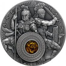 Strieborná mince Starí Bohovia: Arés a Mars 2 Oz High Relief 2021 Antique Štandard