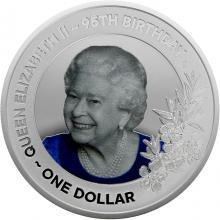 Stříbrná mince 95. narozeniny královny Alžběty II. 1 Oz 2021 Proof