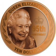 Zlatá minca 95. narodeniny kráľovnej Alžbety II. 1 Oz 2021 Proof