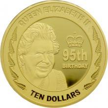 Zlatá mince 95. narozeniny královny Alžběty II. 1 Oz 2021 Proof