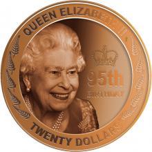 Zlatá mince 2 Oz 95. narozeniny královny Alžběty II. 2021 Proof