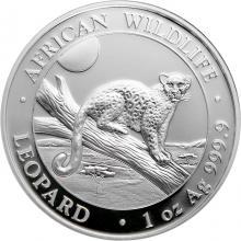 Stříbrná investiční mince Leopard Somálsko 1 Oz 2021