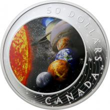 Stříbrná mince 5 Oz Sluneční soustava 2021