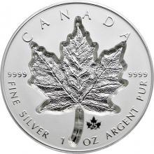 Strieborná minca Maple Leaf 1 Oz - Super Incuse 2021 Proof