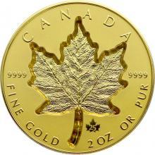 Zlatá mince Maple Leaf 2 Oz - Super Incuse 2021 Proof